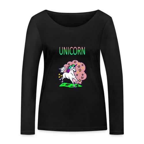 Einhorn unicorn - Frauen Bio-Langarmshirt von Stanley & Stella