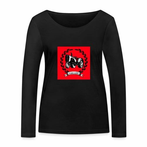 KonradSB czerwony - Ekologiczna koszulka damska z długim rękawem Stanley & Stella