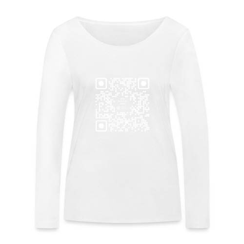QR The New Internet Should not Be Blockchain Based W - Women's Organic Longsleeve Shirt by Stanley & Stella