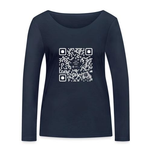 QR The New Internet Should not Be Blockchain Based W - Women's Organic Longsleeve Shirt by Stanley & Stella