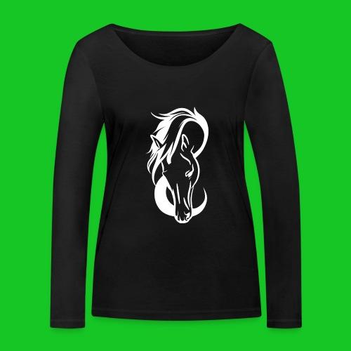 Paardenhoofd line - Vrouwen bio shirt met lange mouwen van Stanley & Stella