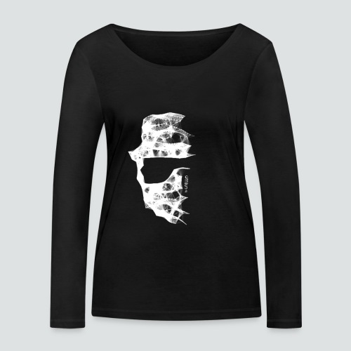 Totenkopf2 png - Frauen Bio-Langarmshirt von Stanley & Stella