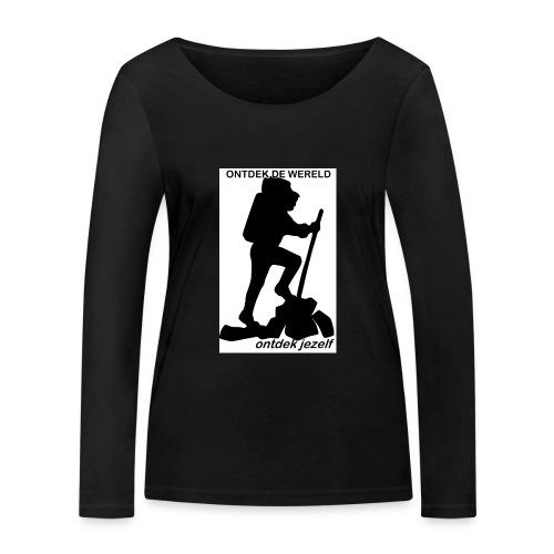 Ontdek de wereld, Backpacker - Vrouwen bio shirt met lange mouwen van Stanley & Stella