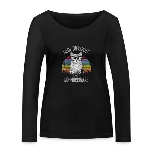 Vorschau: Therapeut Katze - Frauen Bio-Langarmshirt von Stanley & Stella