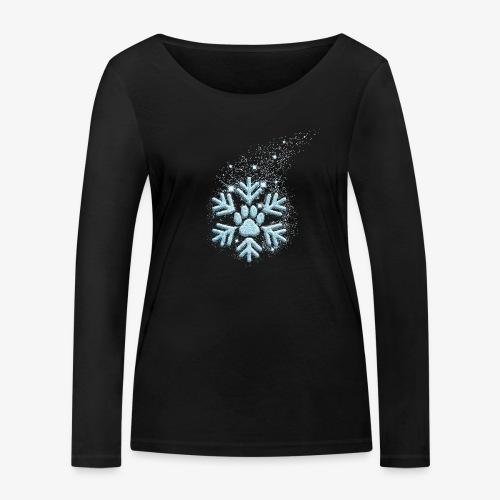 dog paw snowflake - Frauen Bio-Langarmshirt von Stanley & Stella