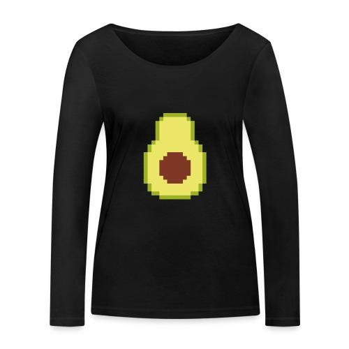 Pixel avocado - Women's Organic Longsleeve Shirt by Stanley & Stella