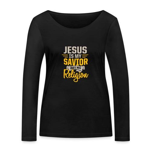 Jesus ist mein Erlöser - Frauen Bio-Langarmshirt von Stanley & Stella