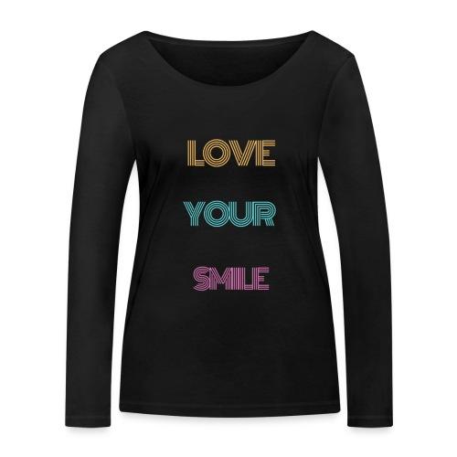 Smile! - Frauen Bio-Langarmshirt von Stanley & Stella