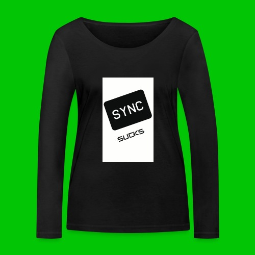 t-shirt-DIETRO_SYNK_SUCKS-jpg - Maglietta a manica lunga ecologica da donna di Stanley & Stella