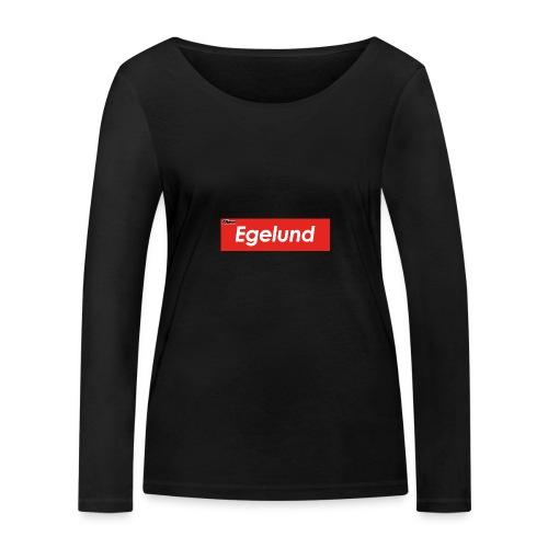 Albert Egelund Box Logo - Økologisk Stanley & Stella langærmet T-shirt til damer
