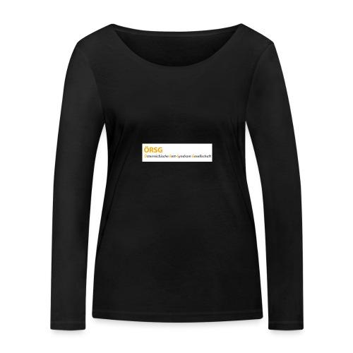 Text-Logo der ÖRSG - Rett Syndrom Österreich - Frauen Bio-Langarmshirt von Stanley & Stella