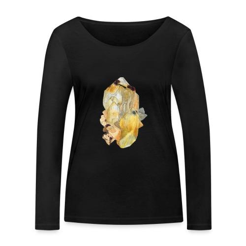 Bergkristall mit Granat - Frauen Bio-Langarmshirt von Stanley & Stella