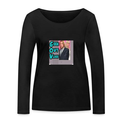 GeekOut Vlogs NES logo - Women's Organic Longsleeve Shirt by Stanley & Stella