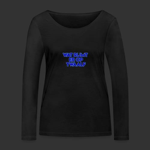 wat rijmt er op twaalf - Vrouwen bio shirt met lange mouwen van Stanley & Stella
