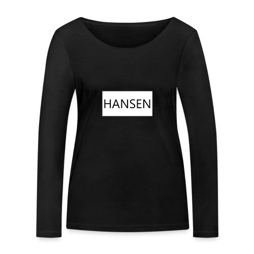 HANSENLOGO hvid - Økologisk Stanley & Stella langærmet T-shirt til damer