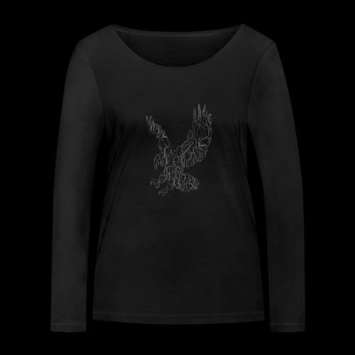 Circuit eagle White - Økologisk Stanley & Stella langærmet T-shirt til damer