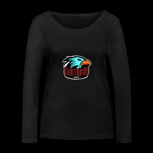 Sektion9 Logo Schwarz - Frauen Bio-Langarmshirt von Stanley & Stella
