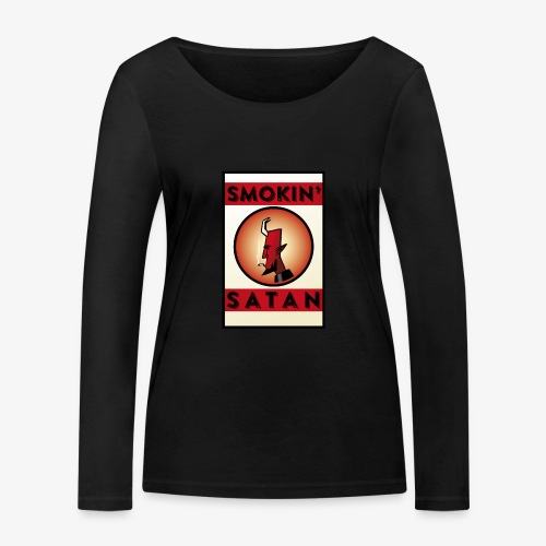 Smokin Satan - Ekologisk långärmad T-shirt dam från Stanley & Stella