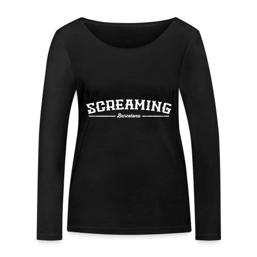 SCREAMING - Camiseta de manga larga ecológica mujer de Stanley & Stella