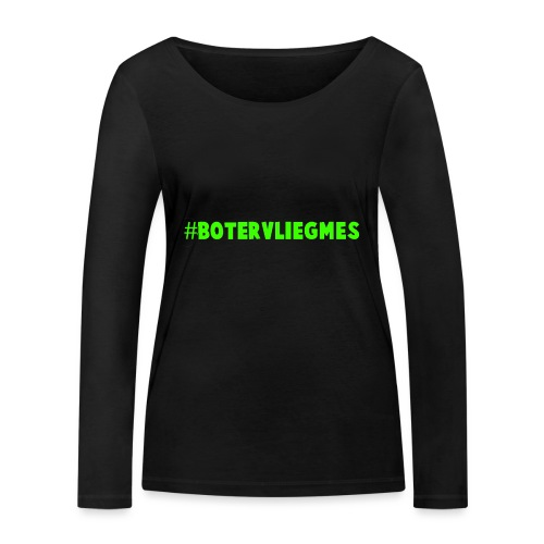 #botervliegmes hoodie (vrouwen) - Vrouwen bio shirt met lange mouwen van Stanley & Stella