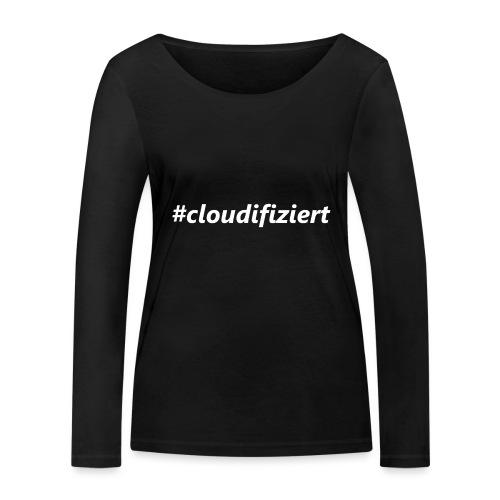 #Cloudifiziert white - Frauen Bio-Langarmshirt von Stanley & Stella