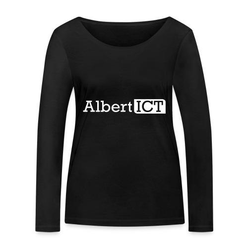 AlbertICT wit logo - Vrouwen bio shirt met lange mouwen van Stanley & Stella