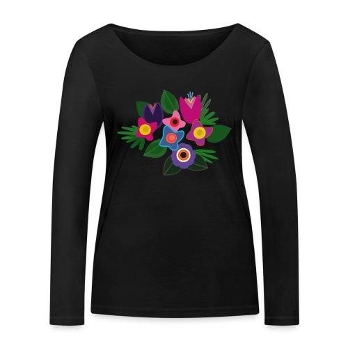 Flowers - Frauen Bio-Langarmshirt von Stanley & Stella