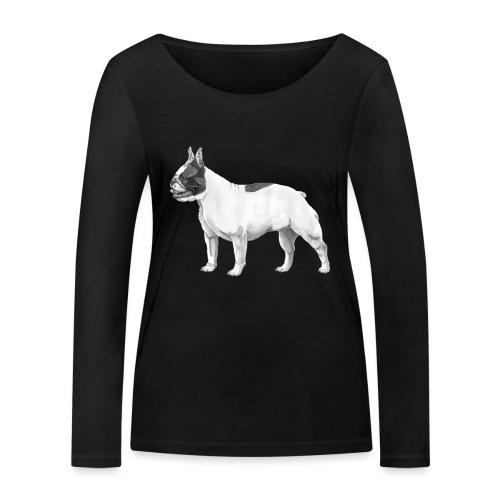 French Bulldog - Økologisk Stanley & Stella langærmet T-shirt til damer