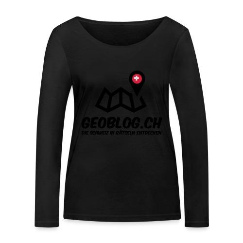 Logo+Schriftzug-hoch - Frauen Bio-Langarmshirt von Stanley & Stella