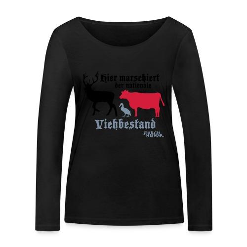 Motiv nationaler Viehbestand - Frauen Bio-Langarmshirt von Stanley & Stella