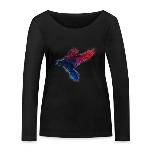 Watercolor Raven - Frauen Bio-Langarmshirt von Stanley & Stella