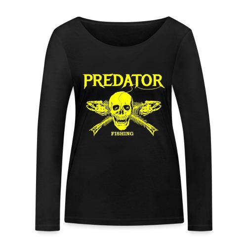 Predator fishing yellow - Frauen Bio-Langarmshirt von Stanley & Stella