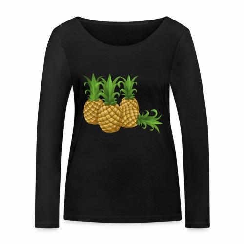 Ananas - Frauen Bio-Langarmshirt von Stanley & Stella