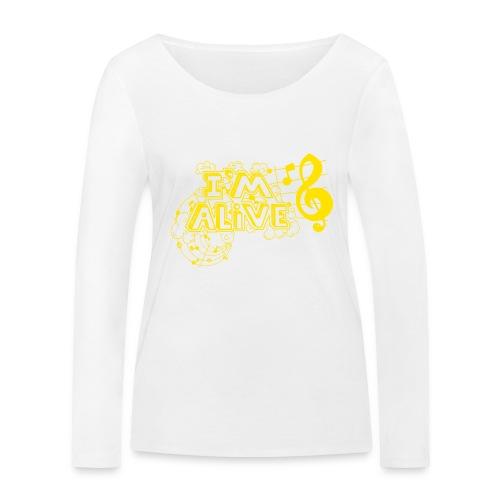 i m alive geel png - Vrouwen bio shirt met lange mouwen van Stanley & Stella