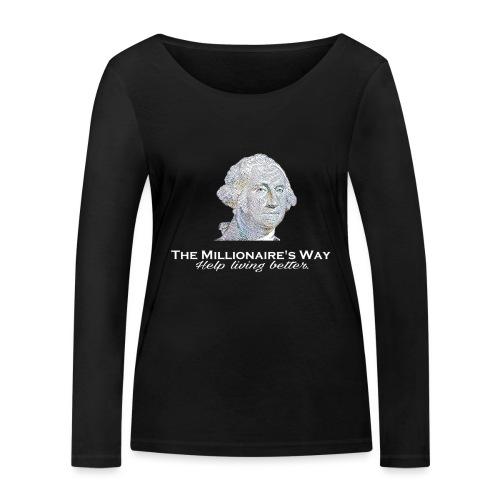 Il nostro logo in bianco - Maglietta a manica lunga ecologica da donna di Stanley & Stella