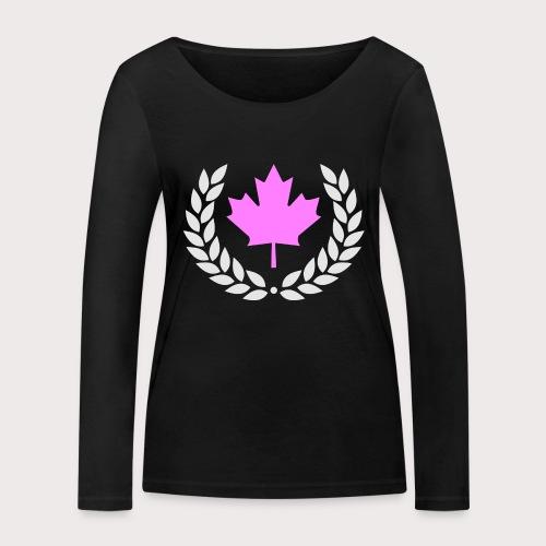 Canada Pink - Frauen Bio-Langarmshirt von Stanley & Stella