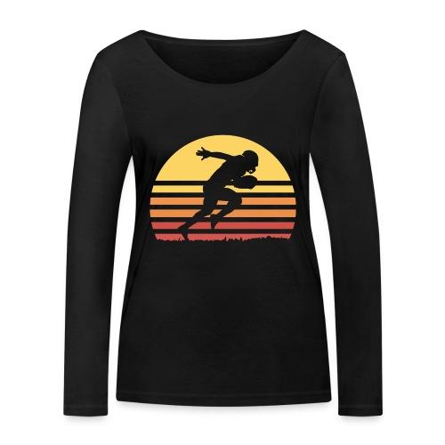 Football Sunset - Frauen Bio-Langarmshirt von Stanley & Stella