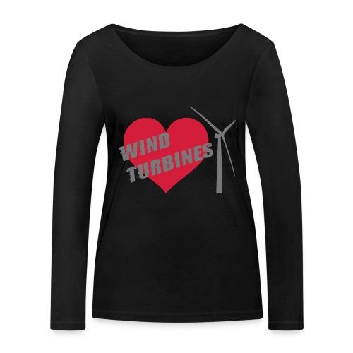 wind turbine grey - Women's Organic Longsleeve Shirt by Stanley & Stella