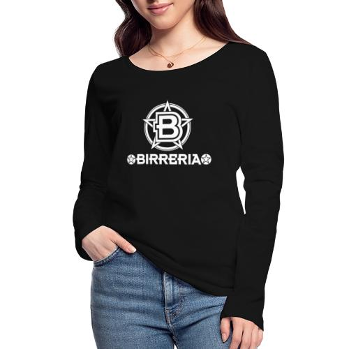Logo Birreria 2021 white - Frauen Bio-Langarmshirt von Stanley & Stella
