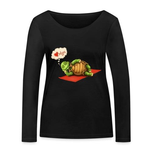 Love-Yoga Turtle - Frauen Bio-Langarmshirt von Stanley & Stella