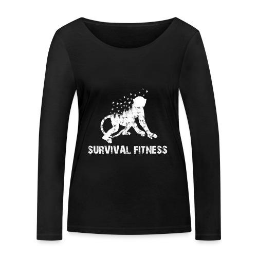 Survival Fitness Weiss - Frauen Bio-Langarmshirt von Stanley & Stella