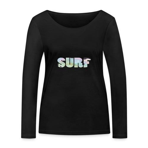 Surf summer beach T-shirt - Women's Organic Longsleeve Shirt by Stanley & Stella