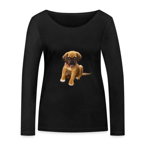 Süsses Haustier Welpe - Frauen Bio-Langarmshirt von Stanley & Stella