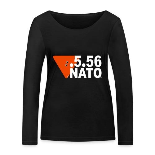 .5.56 NATO BLANC - T-shirt manches longues bio Stanley & Stella Femme