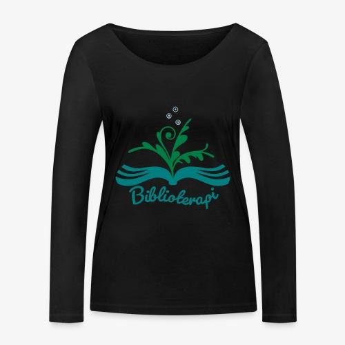 Biblioterapi - börja så! - Ekologisk långärmad T-shirt dam från Stanley & Stella