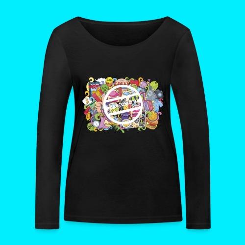 maglia logo doodle - Maglietta a manica lunga ecologica da donna di Stanley & Stella