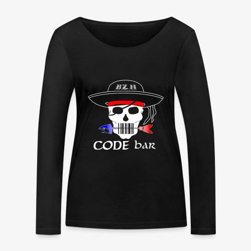 Code Bar white - T-shirt manches longues bio Stanley & Stella Femme