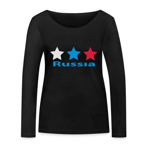 stars_russia - Frauen Bio-Langarmshirt von Stanley & Stella