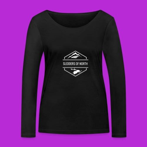 Hoodie White Logo - Women's Organic Longsleeve Shirt by Stanley & Stella