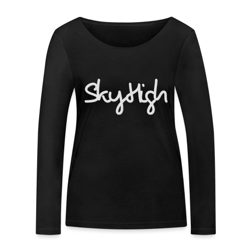 SkyHigh - Men's T-Shirt - Gray Lettering - Women's Organic Longsleeve Shirt by Stanley & Stella